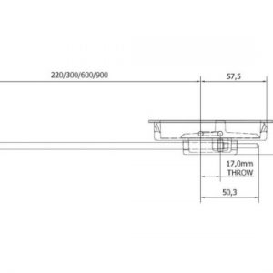 Anza Flush Mounted Door Bolt Fire Rated - 600mm