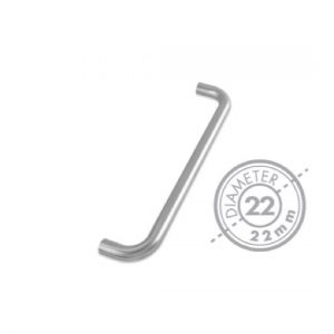 "300mm Bolt Through ""D"" Mitred Pull Handle (GRADE 304)(22mm Diameter)"