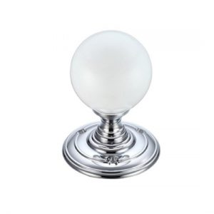 Frosted Glass Ball Metal Knob 55mm