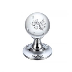 Bubble Glass Ball Mortice Knob 50mm