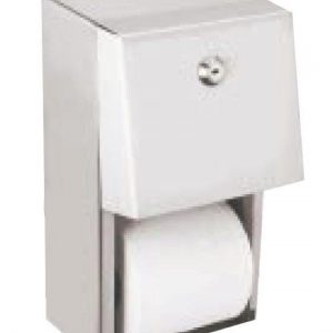 Surface mounting twin toilet roll dispenser