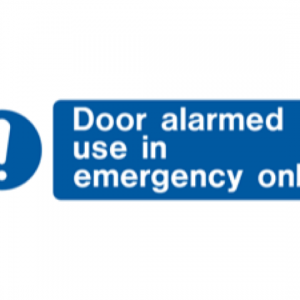 Door Alarmed use in Emergency Only