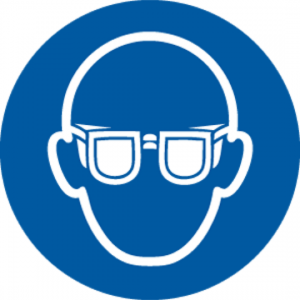 Eye Protection Must be Worn (symbol)