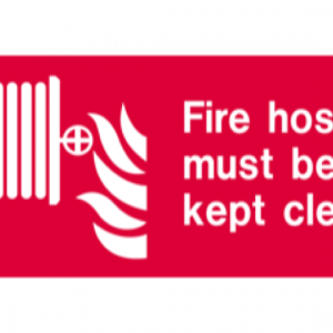 Fire Hose Must be Kept Clear