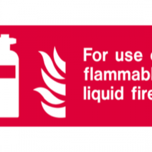 For Use on Flammable Liquid Fire