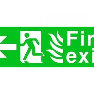 Fire Exit Running Man Arrow Left