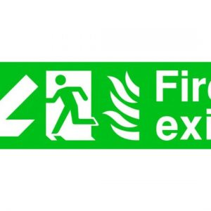 Fire Exit Running Man Arrow Bottom Left