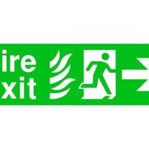 Fire Exit Running Man Arrow Right