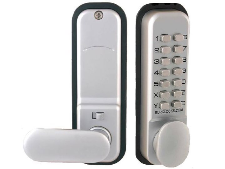 Digital Push Button Door Lock with Holdback 60mm Latch