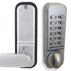 Easicode anti-Ligature knob, keypad, inside paddle handle, optional holdback,60mm latch